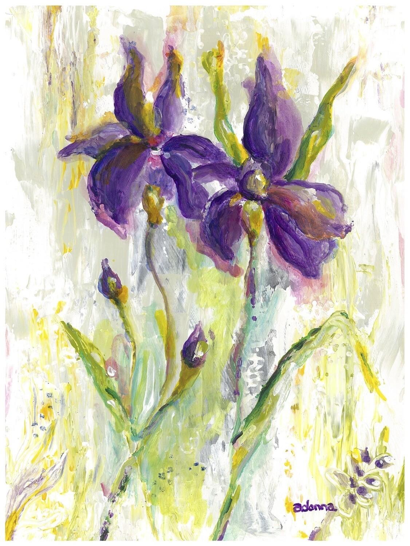 """Irises"" Print 8.5 "" x 11"""