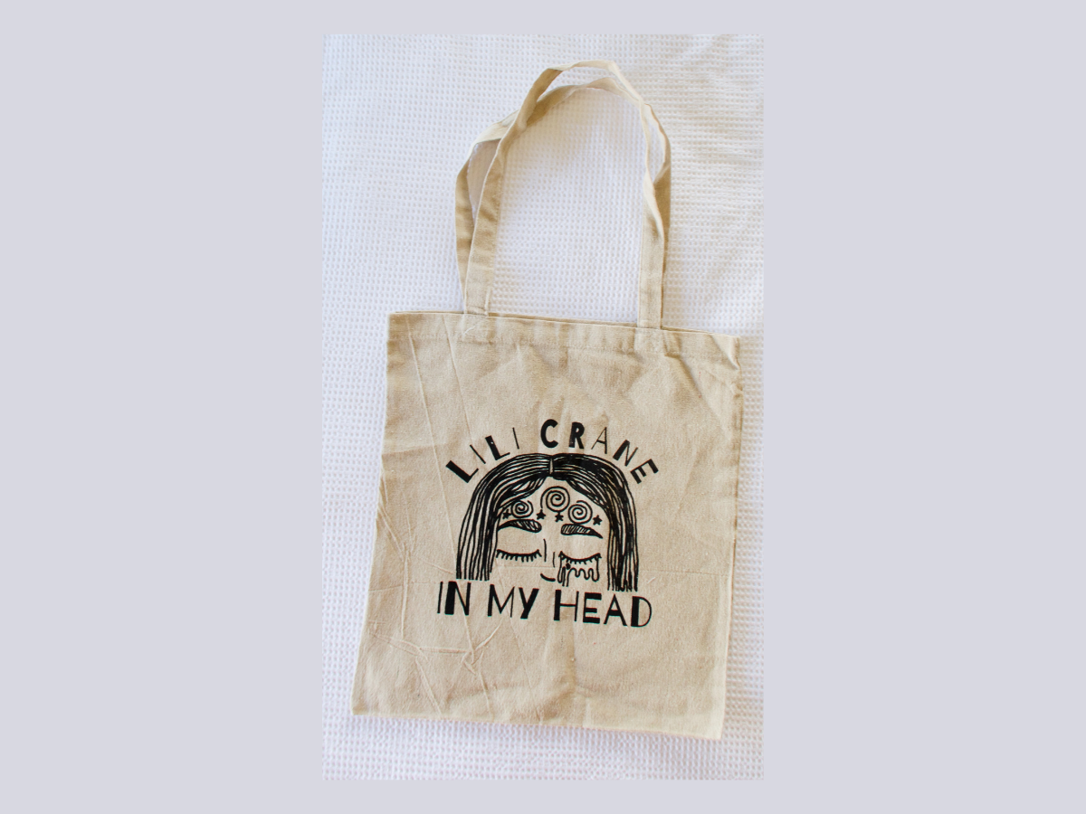 IN MY HEAD Organic Hemp Tote Bag