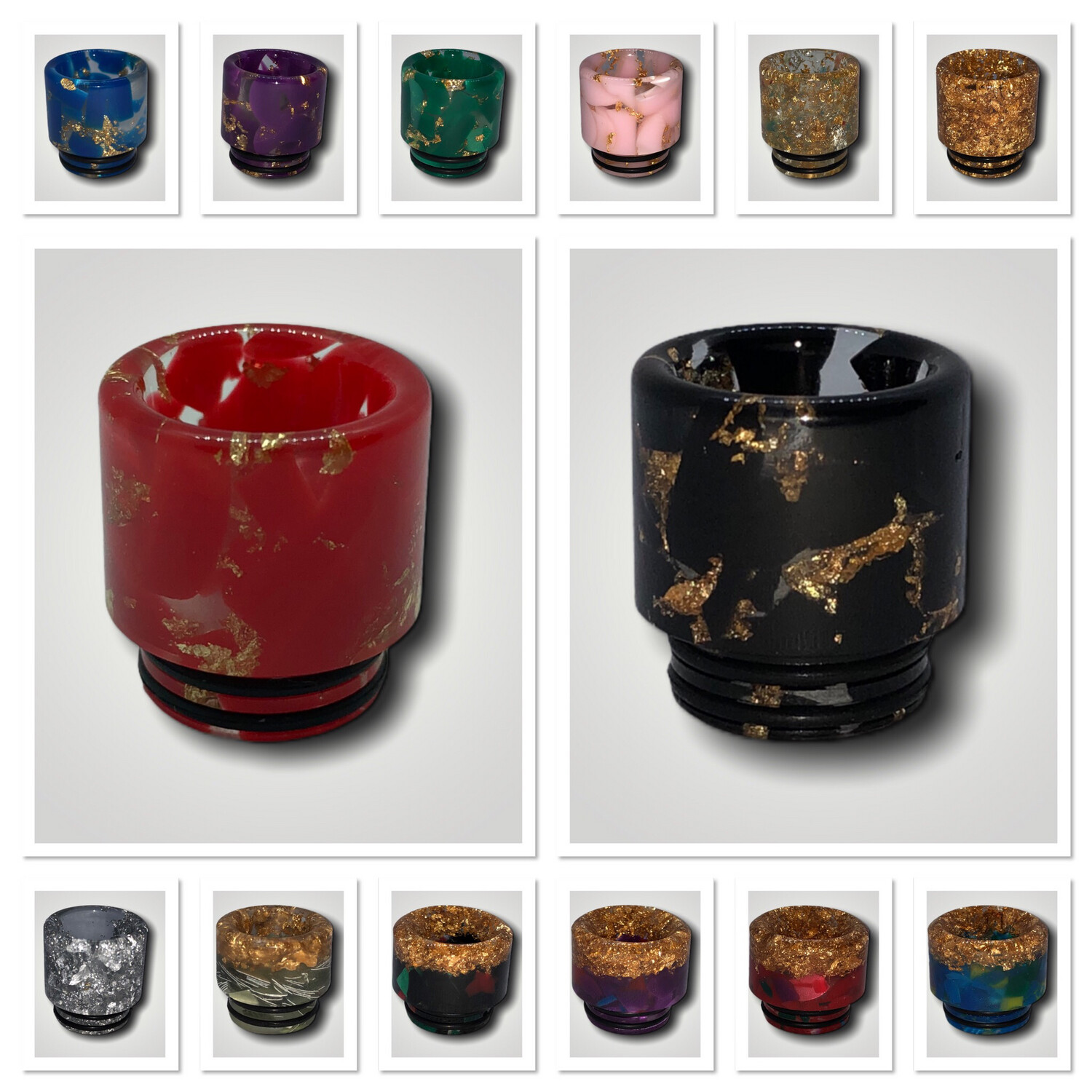 Special Drip Tips 810 Gold Fleck