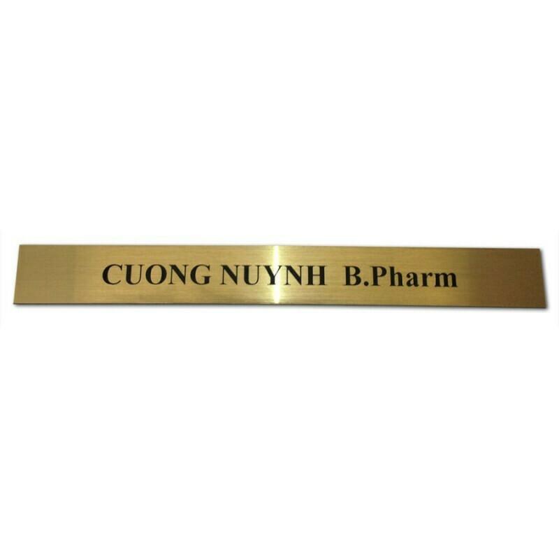 Name Slide for Plaque A