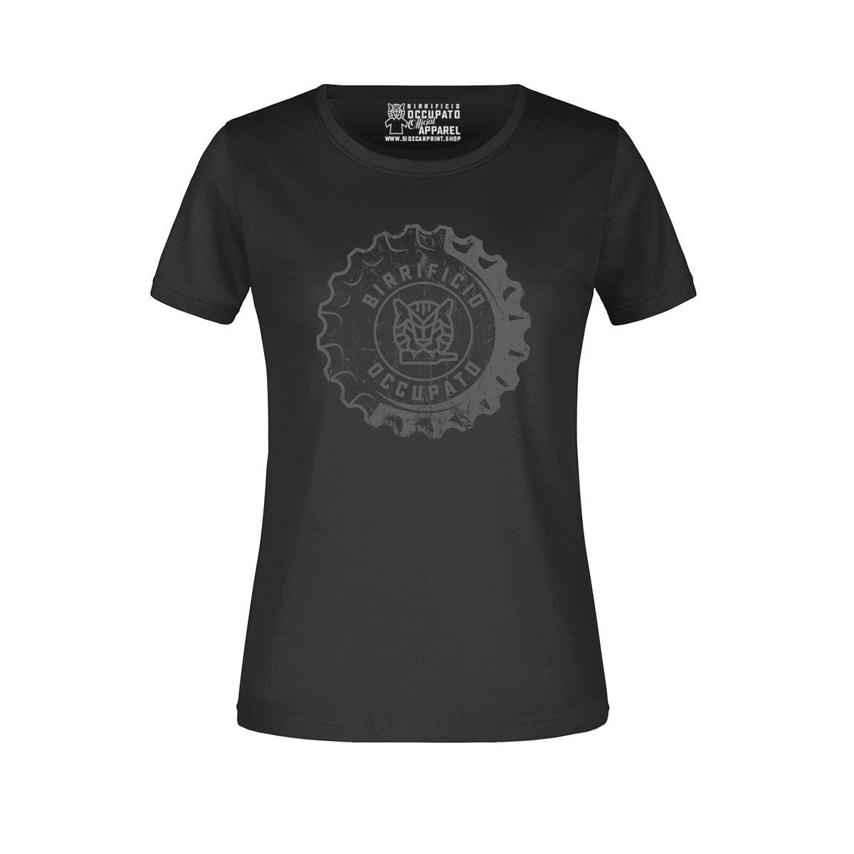 "T-shirt Donna ""Tappone"" Black - Lim.Ed. Spring 2021"