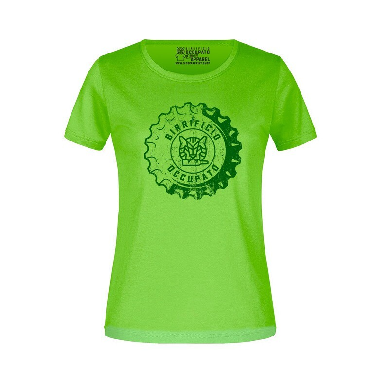 """T-shirt Donna """"Tappone"""" Lime - Lim.Ed. Spring 2021"""