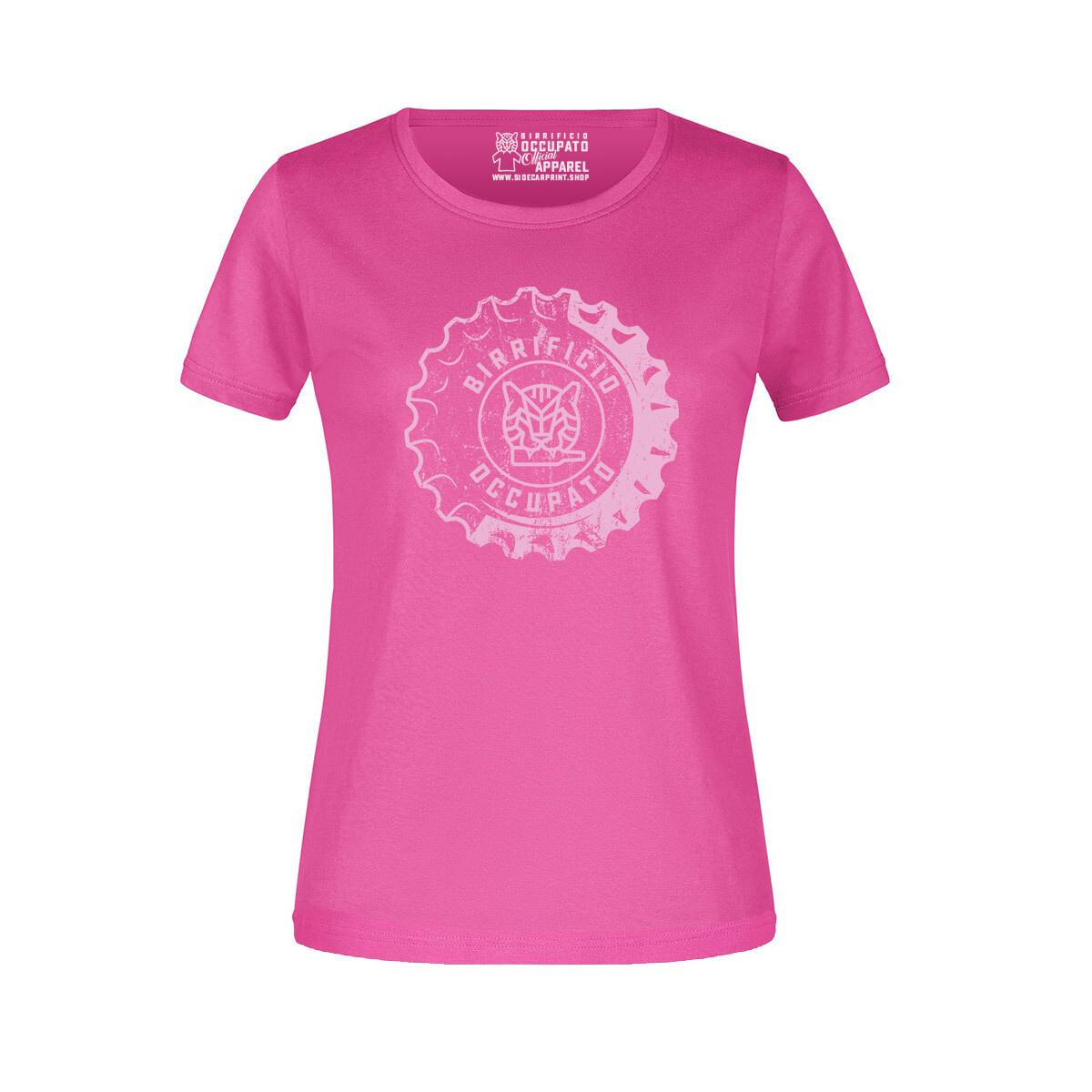 """T-shirt Donna """"Tappone"""" Pink - Lim.Ed. Spring 2021"""