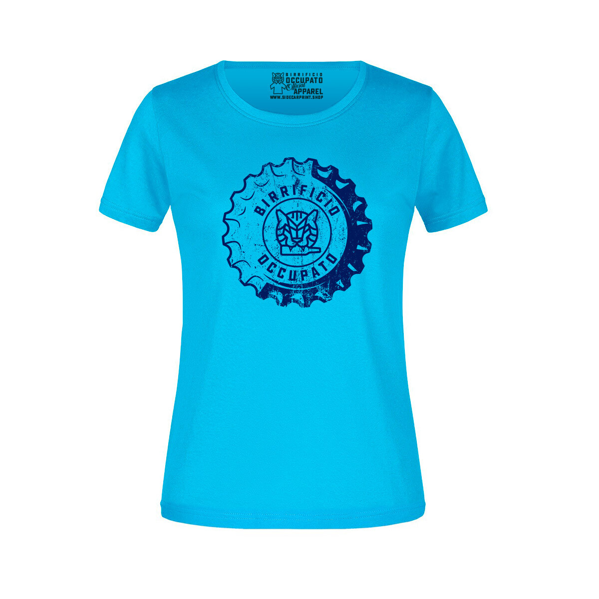 """T-shirt Donna """"Tappone"""" Turquoise - Lim.Ed. Spring 2021"""