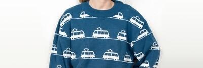 Свитер с трамваями