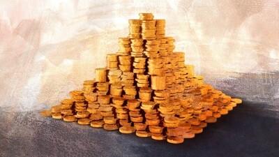 Пирамида из монеток