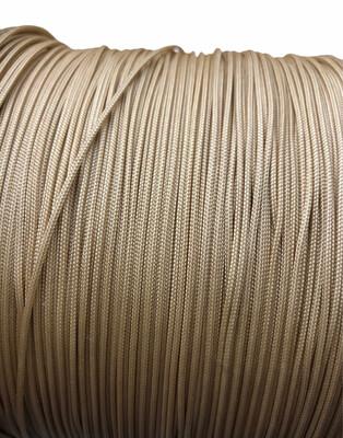 Polyester Knyttesnor 1,4 mm. Fast. Beige/gylden 10 m