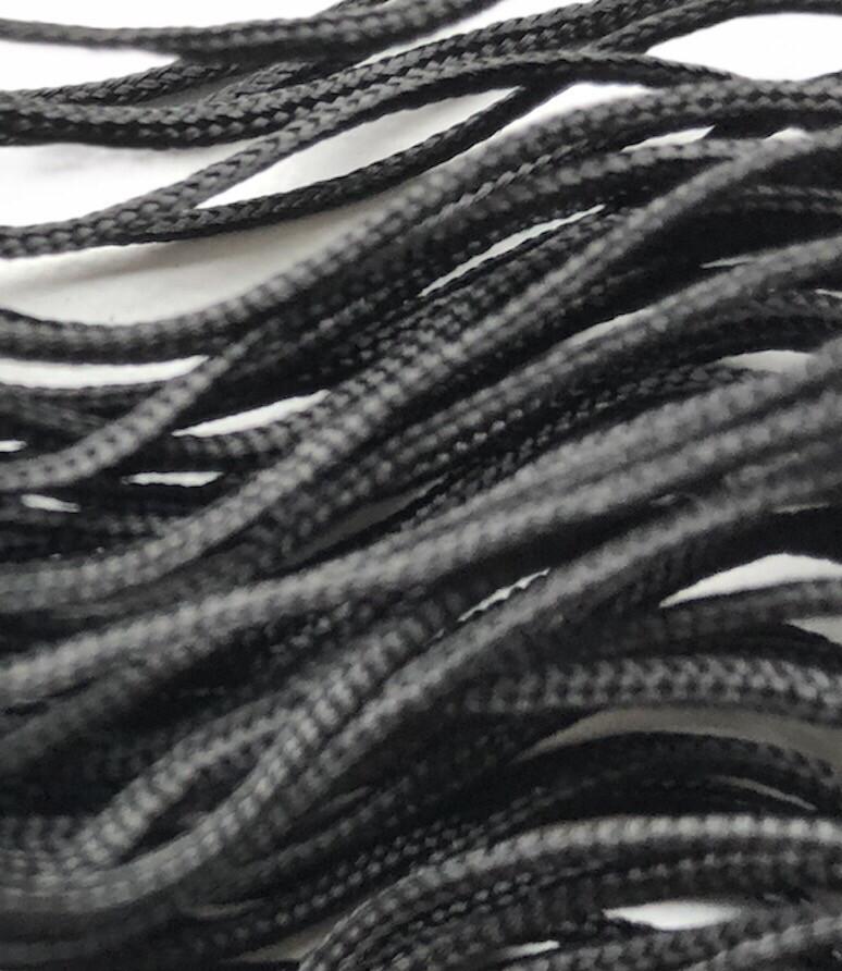Polyester Knyttesnor. 1,2 mm Blød sort. ca. 10 m