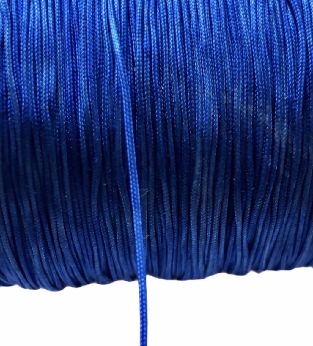 Polyester Snor ca. 0,8 mm. Coboltblå ca 100 m
