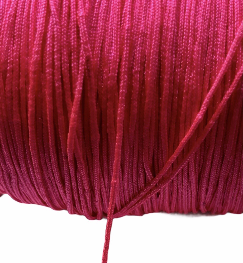 Polyester Snor. ca. 0,8 mm. Pink. 100 m