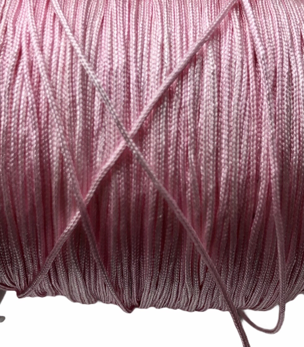 Polyester Snor. 0,8 mm. Rosa. 100 m