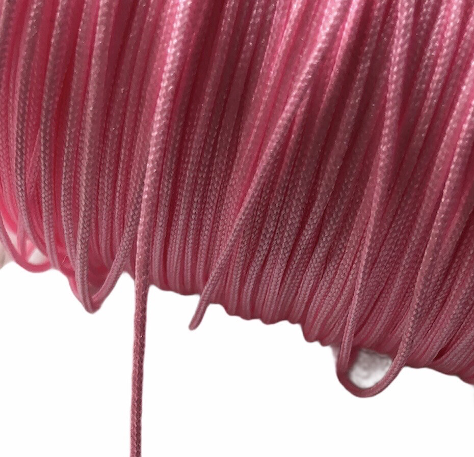 Polyester snor 1 mm. Rosa. ca. 50 m