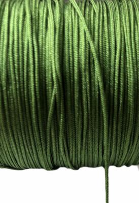 Polyester snor ca 1 mm. Grøn ca 50 m