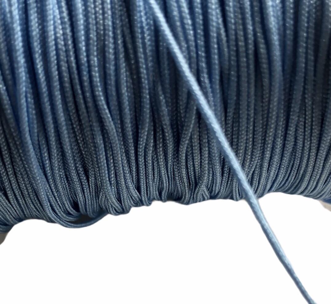 Polyester snor 1 mm. Lys blå ca. 50 m