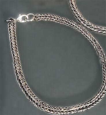 Materialesæt. Vikingestrik armbånd i sterlingsølv. Fra