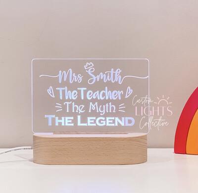 TEACHER, MYTH, LEGEND