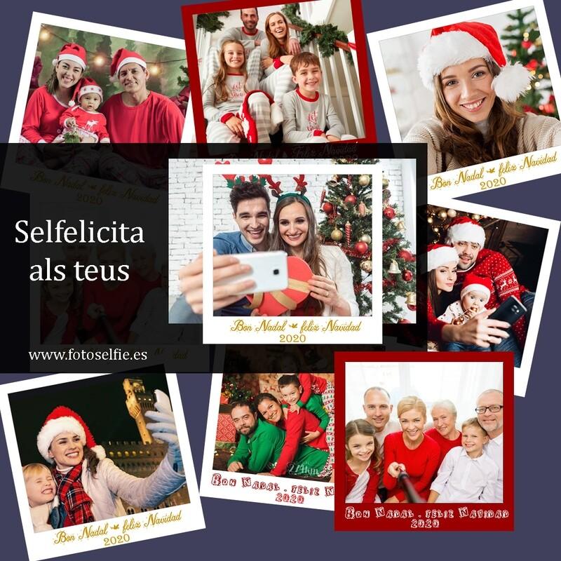 Selfie - Felicitació Horitzontal