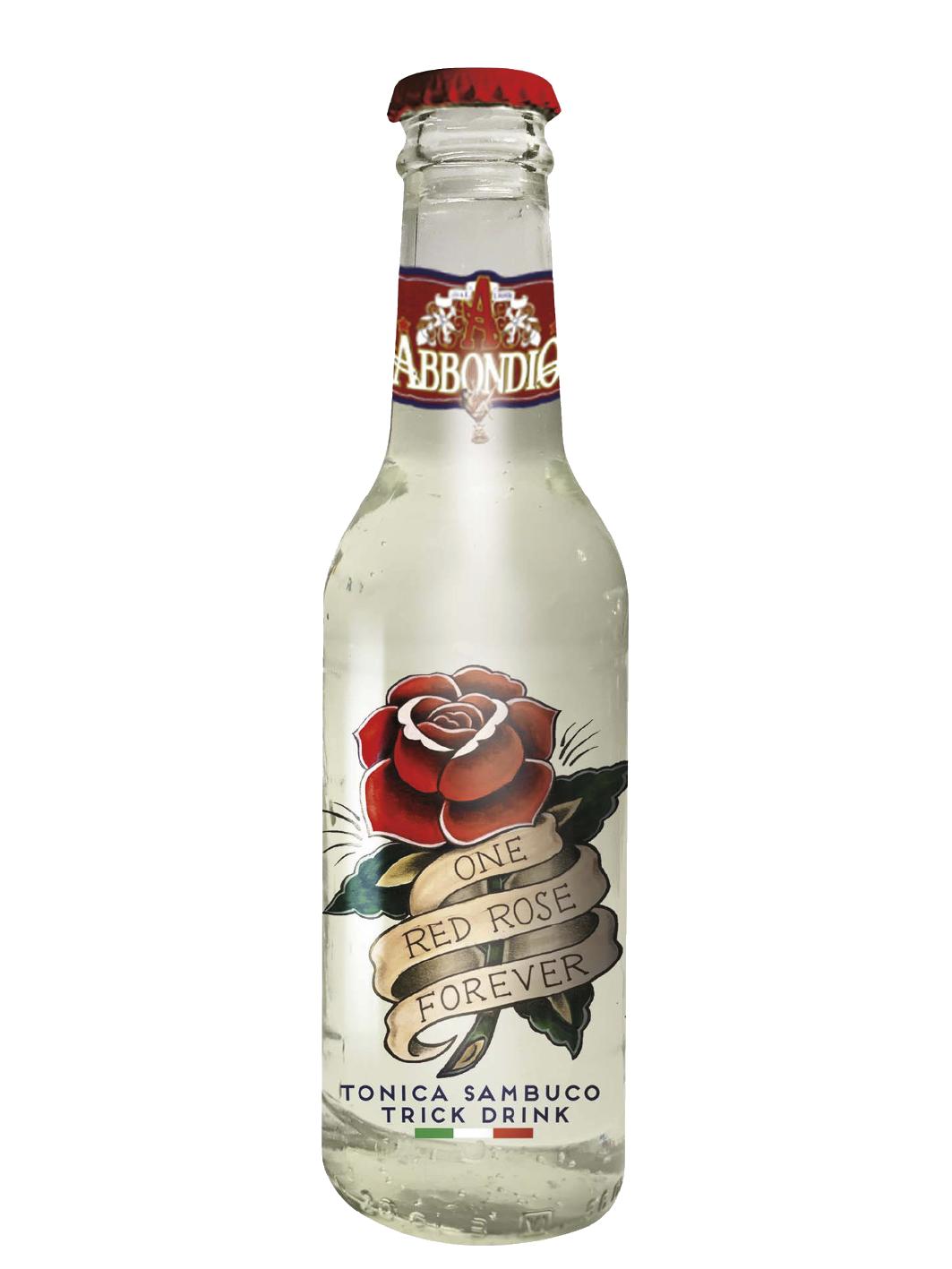 RED ROSE TONICA SAMBUCO TRICK DRINK