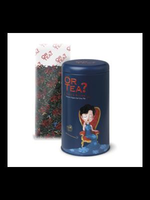 Duke's blue tin canister - Earl Grey blue flower thee
