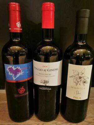 wijnpakket 3 flessen Italië