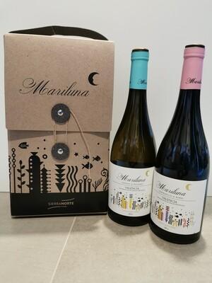 Cadeauverpakking incl. 2 flessen wijn Mariluna