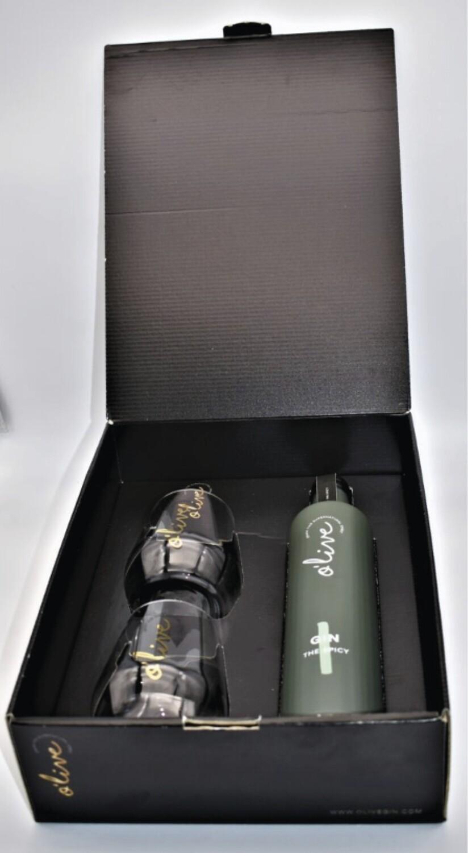 Box zwarte doos Olive Gin 'Green'    kruidig