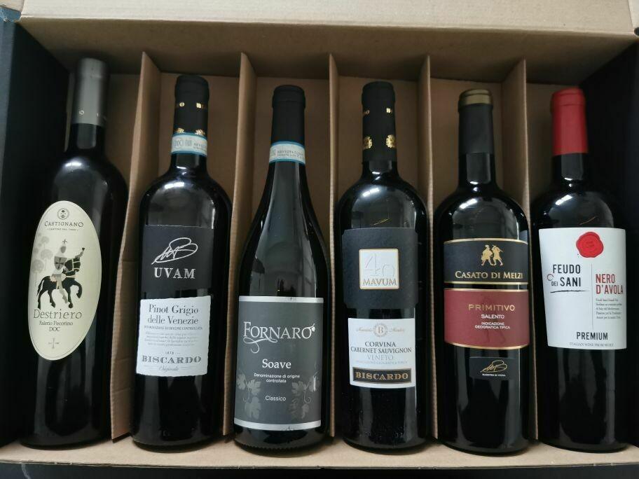 Wijnpakket ITALIA - 6 flessen