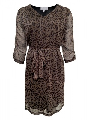 DRESS SARA ANIMAL PRINT GREEN