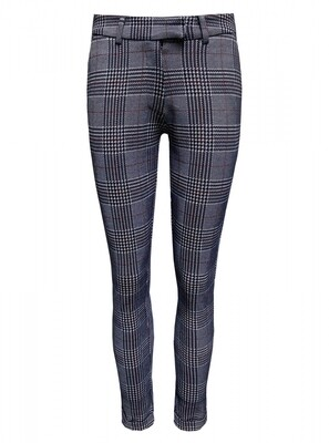 TROUSER SQUARES SQUARE PRINT WHITE NAVY