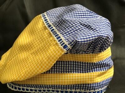 """""""Sunday Hat"""" Two Waters (Yemayá and Oshún) and Oní Oní (Yemayá and Shangó)"""