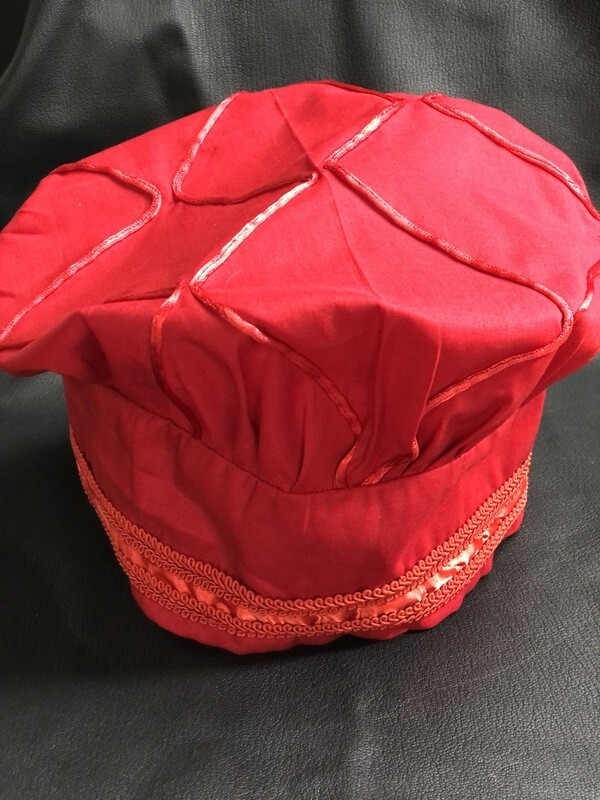 Ornated Battle Hat Red