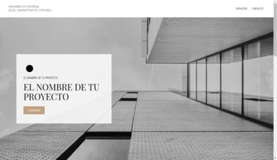 """Sitio Web Multipágina Modelo """"Empresa Formal"""""""