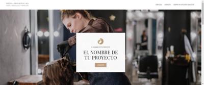 "Sitio Web Multipágina Modelo ""Estética"""