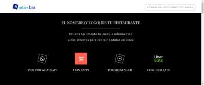 """Mini-Sitio Una Página Modelo """"Restaurante"""""""