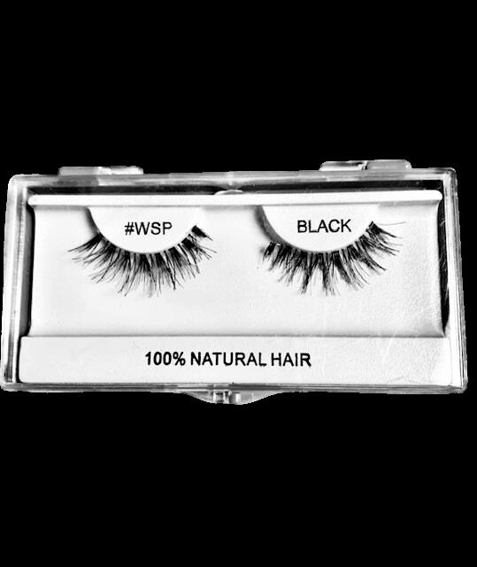 100% Natural Hair Lashes #WSP Black