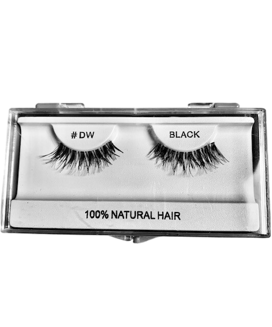 100% Natural Hair Lashes #DW Black