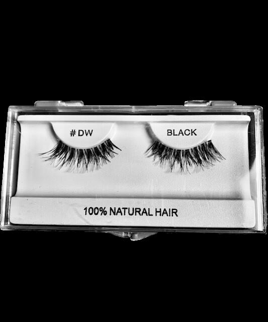 100% Natural Hair Lashes #DW Black