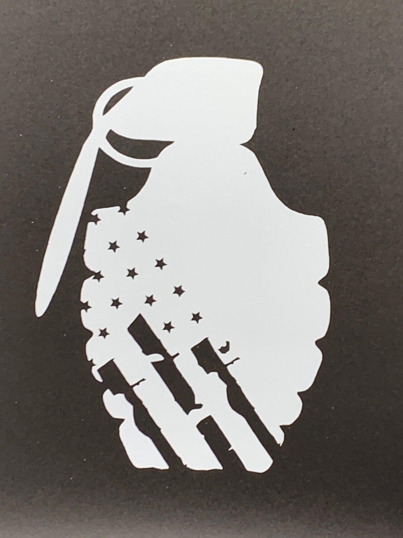 AP Grenade Decal