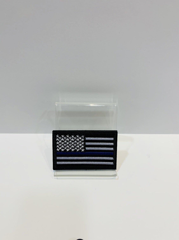 U.S. Patches Black Blue Line
