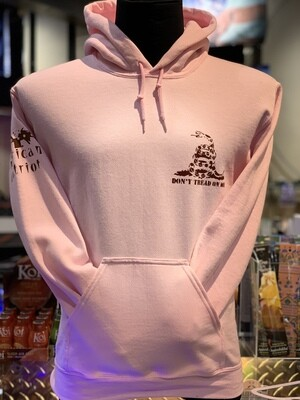 Don't Tread On Me Hoodie Pink
