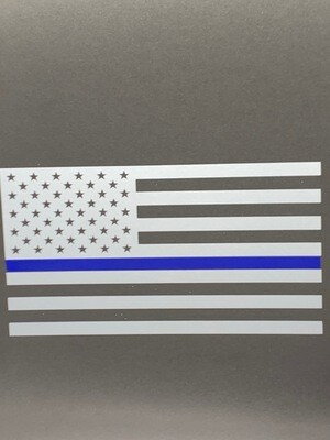 AP Blue Line Flag Decal