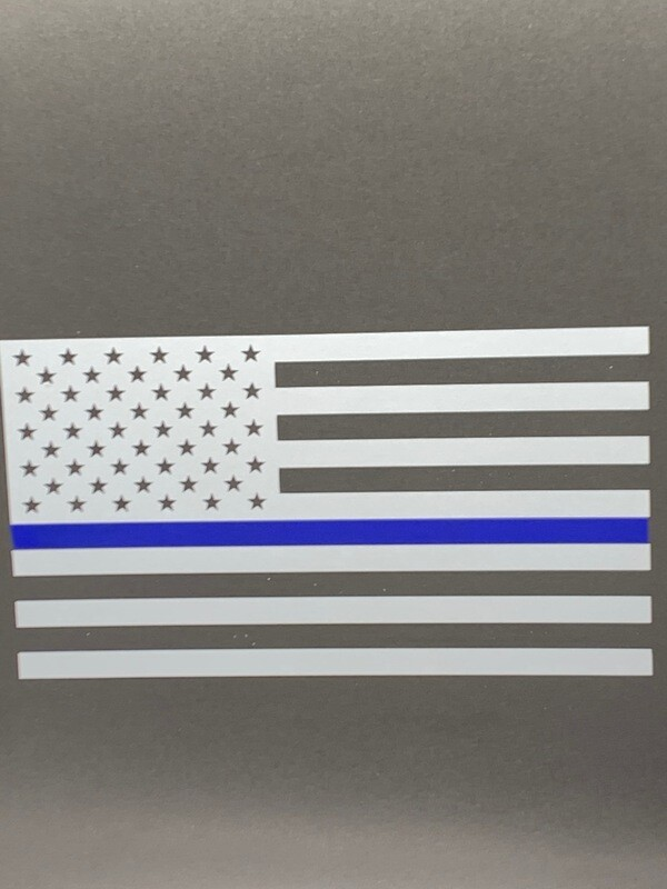AP Blue Line Flag Decal