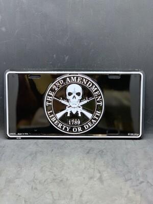 2nd Amnd. Liberty/Death License Plate