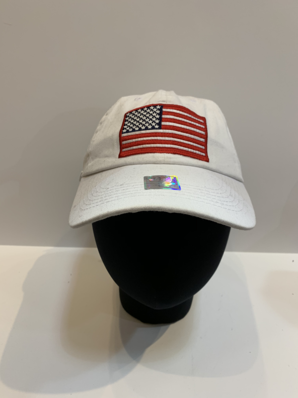 Patriotic Hats USA Flag-White