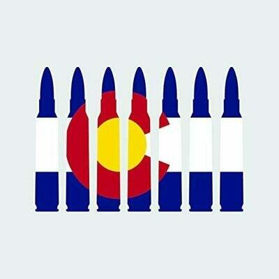 Colorado Decals Bullet Flag