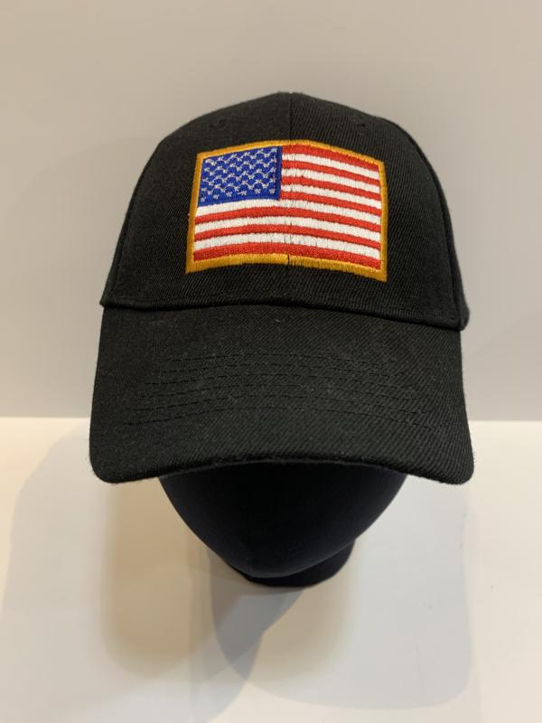 Patriotic Hats U.S.A Flag-Black/Gold