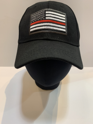 First Responder Hats Red Line Flag