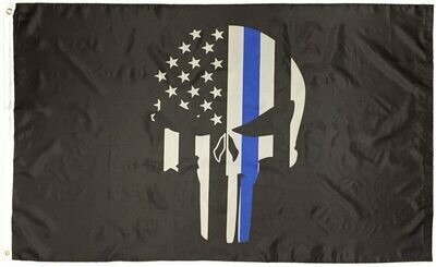 Flags 3X5 Specialty Blue Line Punisher