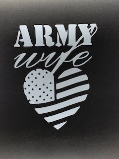 AP Army Wife Decal