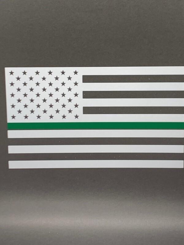 AP Green Line Flag Decal